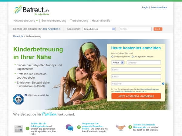 Kinderbetreuung finden bei Betreut.de